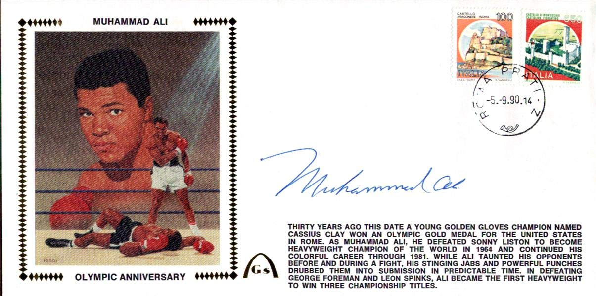 Muhammad Ali Autographed First Day Cover Vintage #I01291 PSA/DNA Certified Boxing Cut Signatures