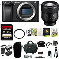 Sony a6300 Mirrorless Camera (Body Only) +Sony FE 85mm f/1.4 GM Lens w/64GB ACC
