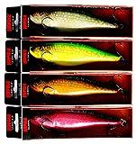 Rapala Glidin' Rap GLR-15 Full Pike Colors Set RDPK MPK FPK SPK - Total 4 Lures