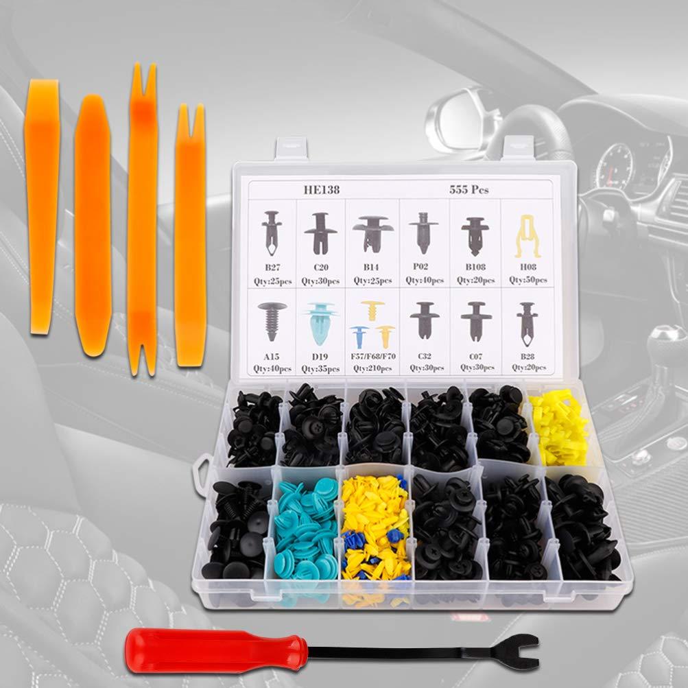 borchie di fissaggio modanature set accessori per auto sugeryy 555 pezzi per rivestimento portiera auto clip paraurti pezzi di ricambio