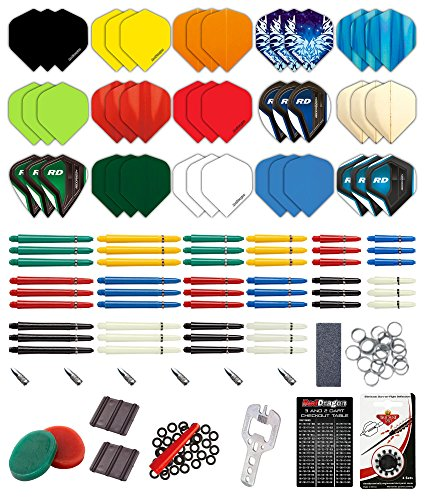 Red Dragon Darts 200 Piece Bumper Darts Accessory Pack Checkout Card