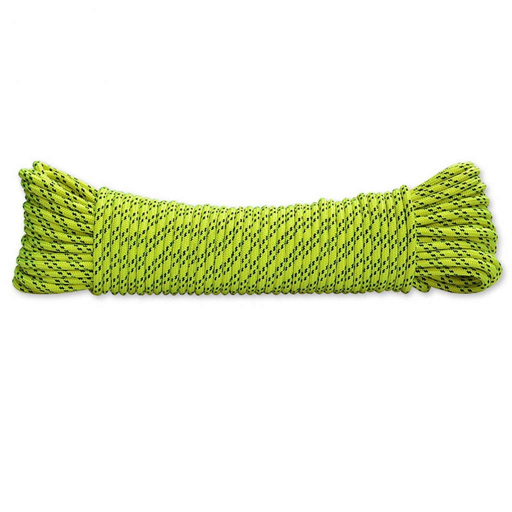 ロープ(張り綱) クライミングロープ静的ロープ屋外クライミングロープレスキューエスケープロープ空中作業安全ロープ速度ドロップロープ直径の緑のデュポンナイロン6MM (サイズ さいず : 200M) 200M  B07KKDB9HR