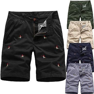 Pantalones Hombre Trabajo Bolsillos Pantalones de Playa Estampados ...