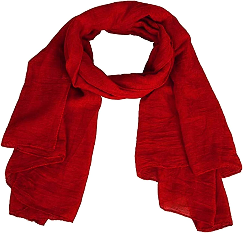 Foulard mujer color sólido pashmina verano color rojo 175 x 45 cm ...