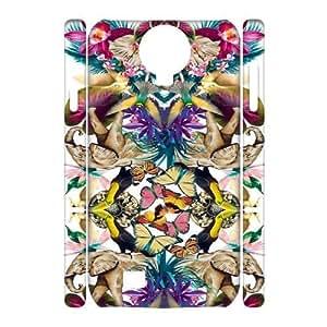 SamSung Galaxy S4 I9500 Elephant flower 3D Art Print Design Phone Back Case Hard Shell Protection TY047525