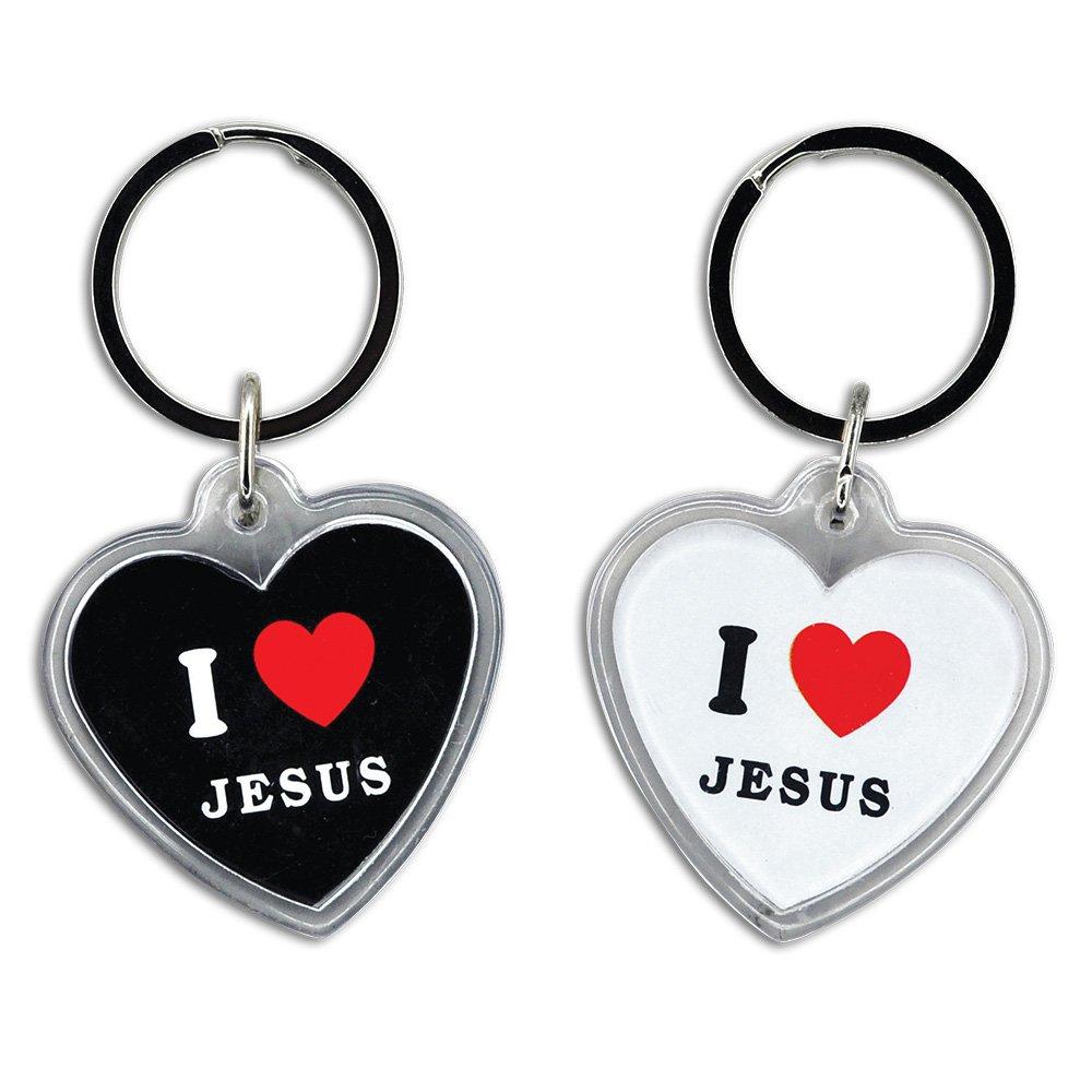 「I LOVE JESUS」キーチェーン( Bag of 36 )   B076BYFCLM