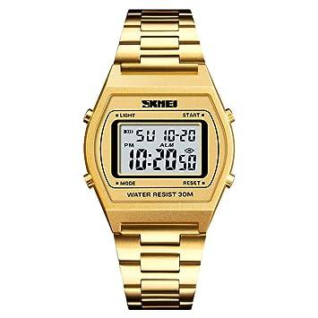 WULIFANG Relojes Deportivos Hombre De 12/24 Horas Countdown Reloj Digital Outdoor Military Watch Reloj