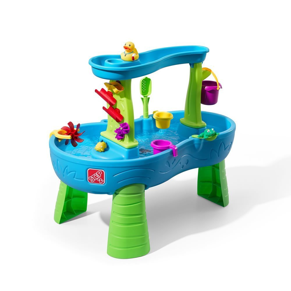 Step2 Rain Showers Splash Pond Water Table Playset (Large Pack - Includes Splash Toys &Spring Board)