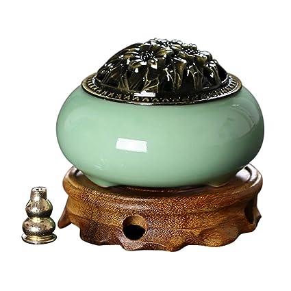 Grietas de Hielo Quemador de Incienso de cerámica Estufa de aromaterapia Antigua Utensilios de Incienso para