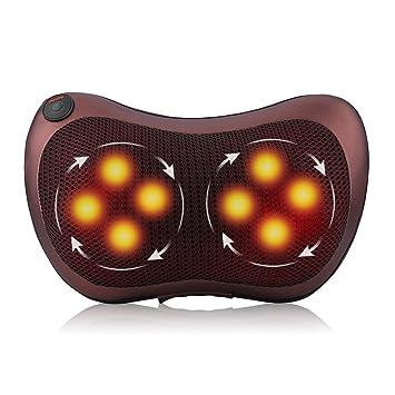 Eléctrico Almohada de Masaje Espalda Hombro Shiatsu 3D Cuello Cojín Masajeador de Calefacción para Hogar Oficina y Coche
