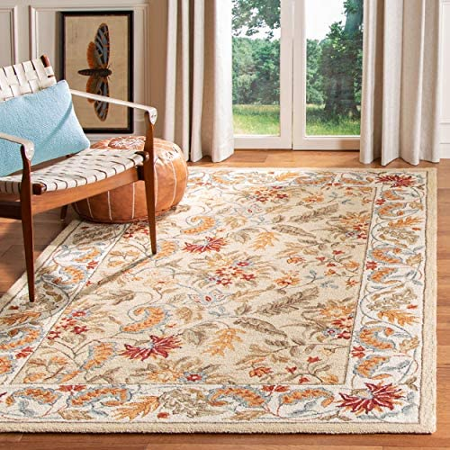 Safavieh Chelsea Collection HK141A Hand-Hooked Ivory Premium Wool Area Rug 8 9 x 11 9
