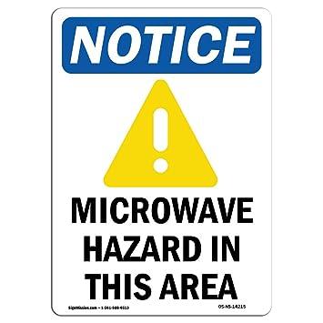 Señal de advertencia de Osha – peligro de microondas en esta zona ...