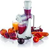 Machak cartup Plastic Manual Fruits and Vegetable Juicer with Waste Collector and Steel Handle(Random Colour, Small)