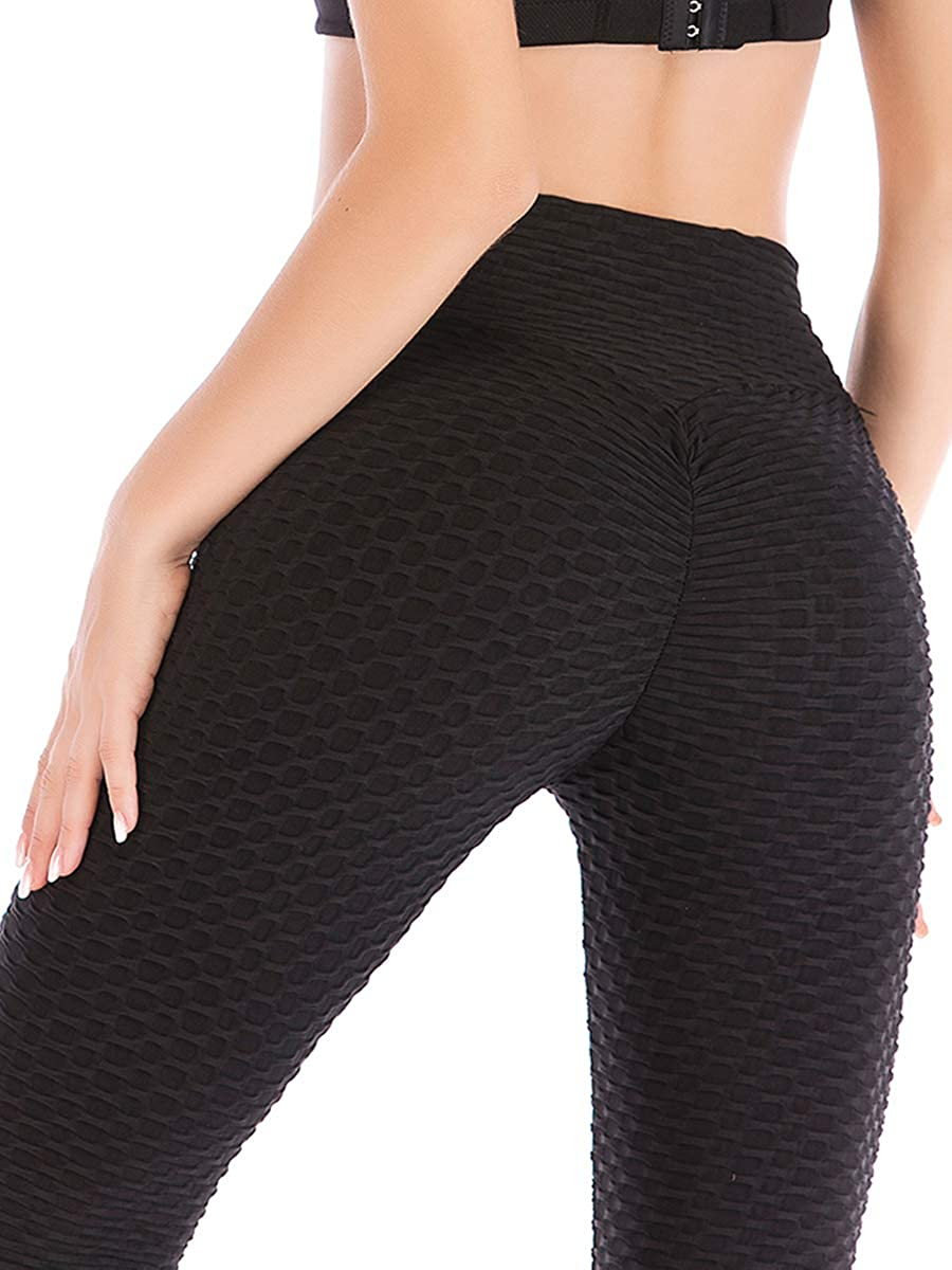 a60d0a075252f Top1: DODOING Womens Ruched Butt Lifting High Waist Leggings Tummy Control  Stretchy Skinny Yoga Pants Thights