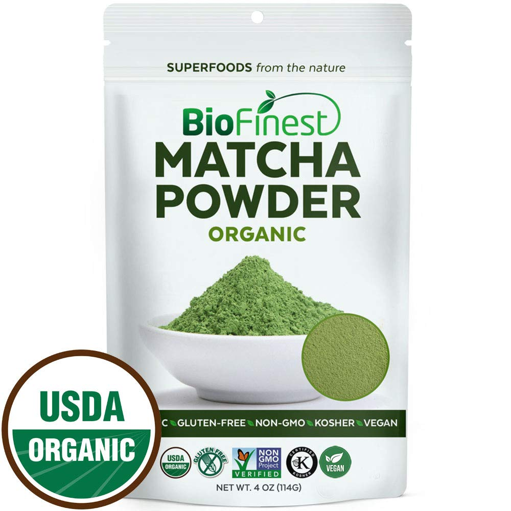Biofinest Matcha Green Tea Powder -100% Premium Ceremonial Grade -USDA Organic Raw Vegan Non-GMO 4oz