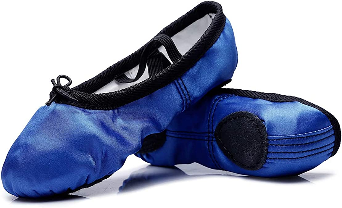 MSMAX Unisex Slip on Jazz Shoes Ballet Dancing Performance Flats for Girls and Boys