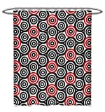 Best Croscill Blinds - Anhuthree Geometric Circle Shower Curtains Mildew Resistant Interlace Review