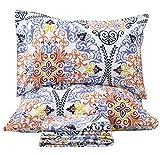 Queen's House Luxury Bohemian Pattern Bedding Sheets Set Boho Chic Sheet Bedroom Set-California King,O