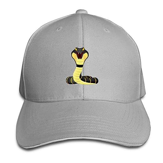 Unisex Sandwich Baseball Cap Color King Cobra Snake Adjustable ... f287b90a2b5