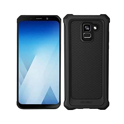 separation shoes fc7cd c3e41 CELLBELL Rugged Armor Back Case Cover for Galaxy A8 Plus(2018)[Midnight  Black]