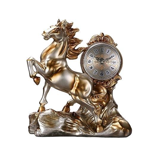 NNIU Reloj de Escritorio, Reloj de Mesa de decoración de Oficina ...