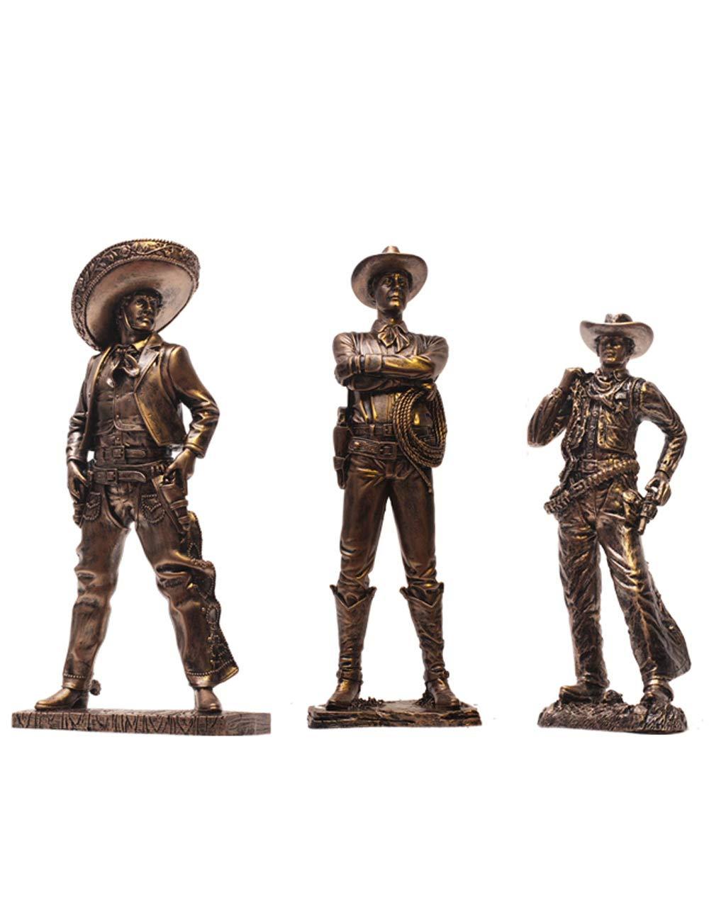 装飾品、樹脂素材のアートワーク、ヨーロッパスタイルの装飾、創造的な西部のカウボーイキャラクターの彫刻工芸品   B07K18W3X2