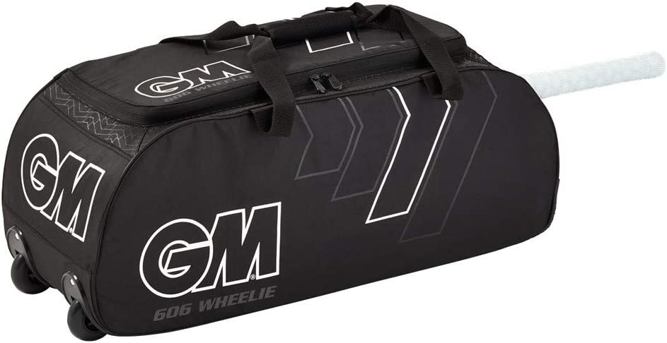 2021 Black Gunn and Moore GM 606 Wheelie Cricket KIT Bag
