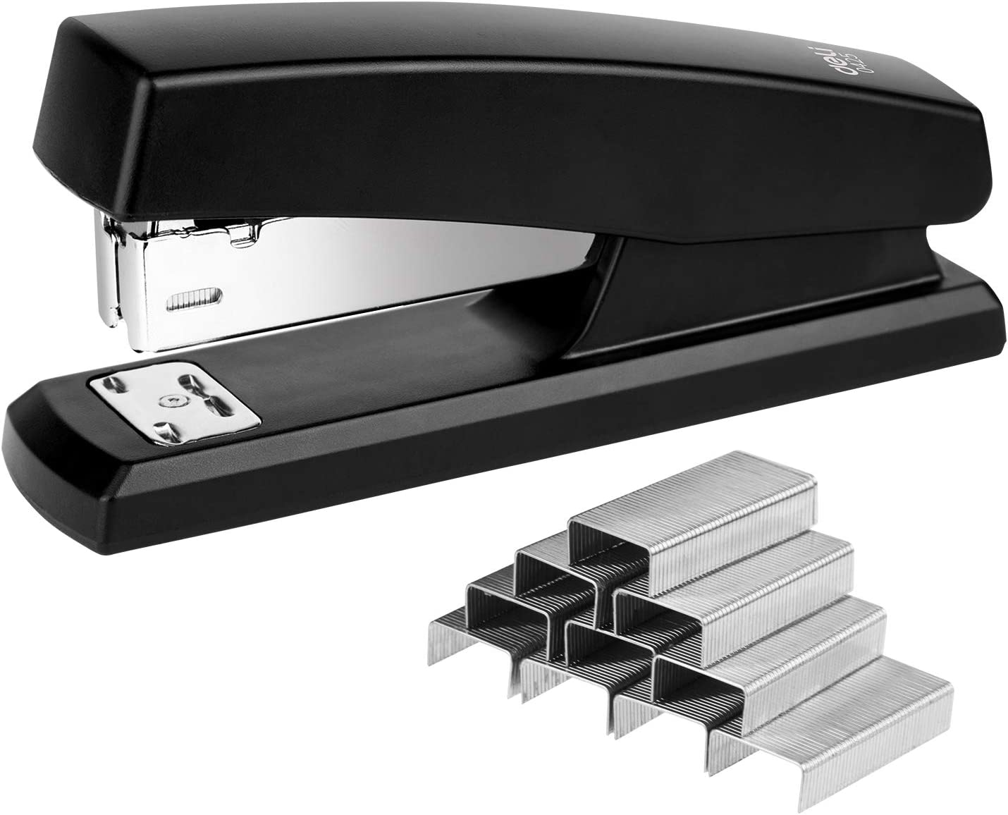 Deli Stapler, Desktop Staplers with 640 Staples, Office Stapler, 25 Sheet Capacity, Black