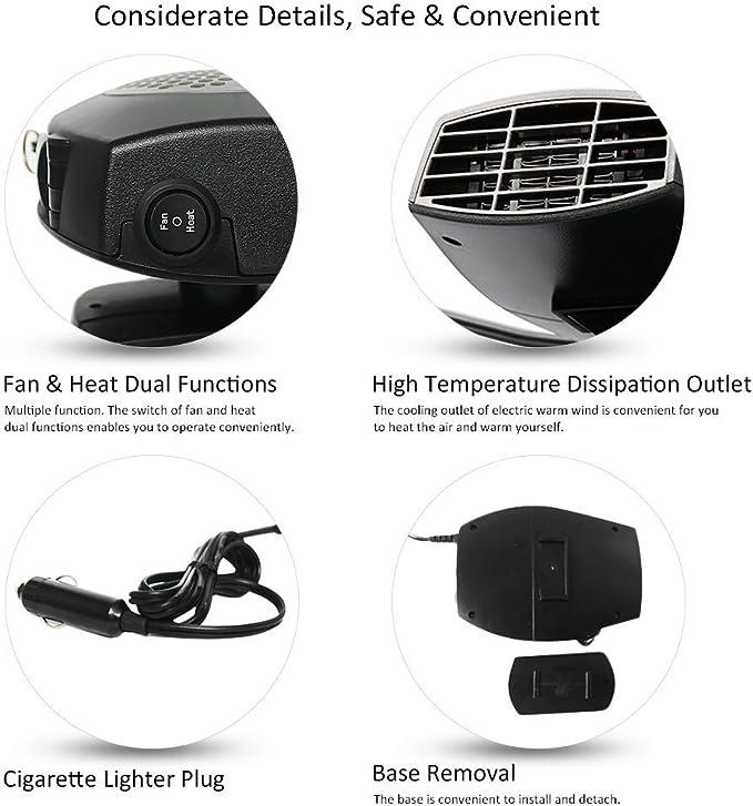 Samxu Chauffage soufflant Portable pour Voiture 12 V