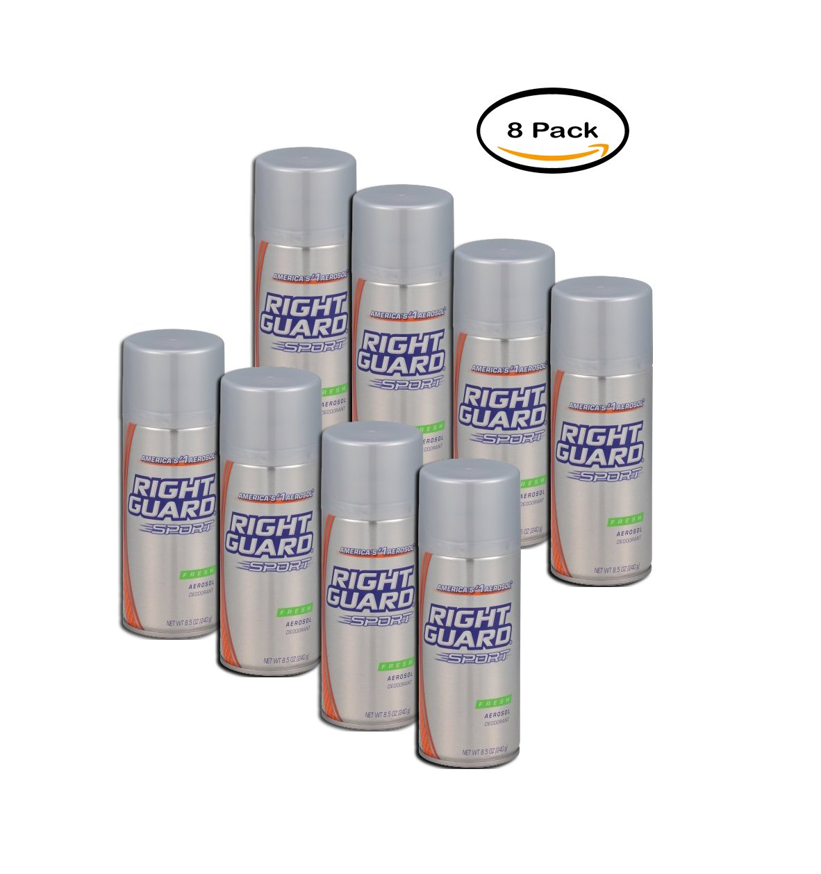 PACK OF 8 - Right Guard Sport Deodorant Aerosol Spray, Fresh, 8.5 Oz