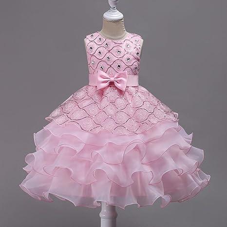 3178436d2870 WML Vestiti del vestito dalla ragazza di fiore di cerimonia nuziale del  vestito dal sequin del