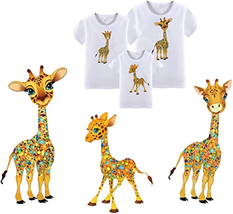 Iron On Sew On Embroidered Giraffe Patch Animal Badge Kids T Shirt Jacket Crafts