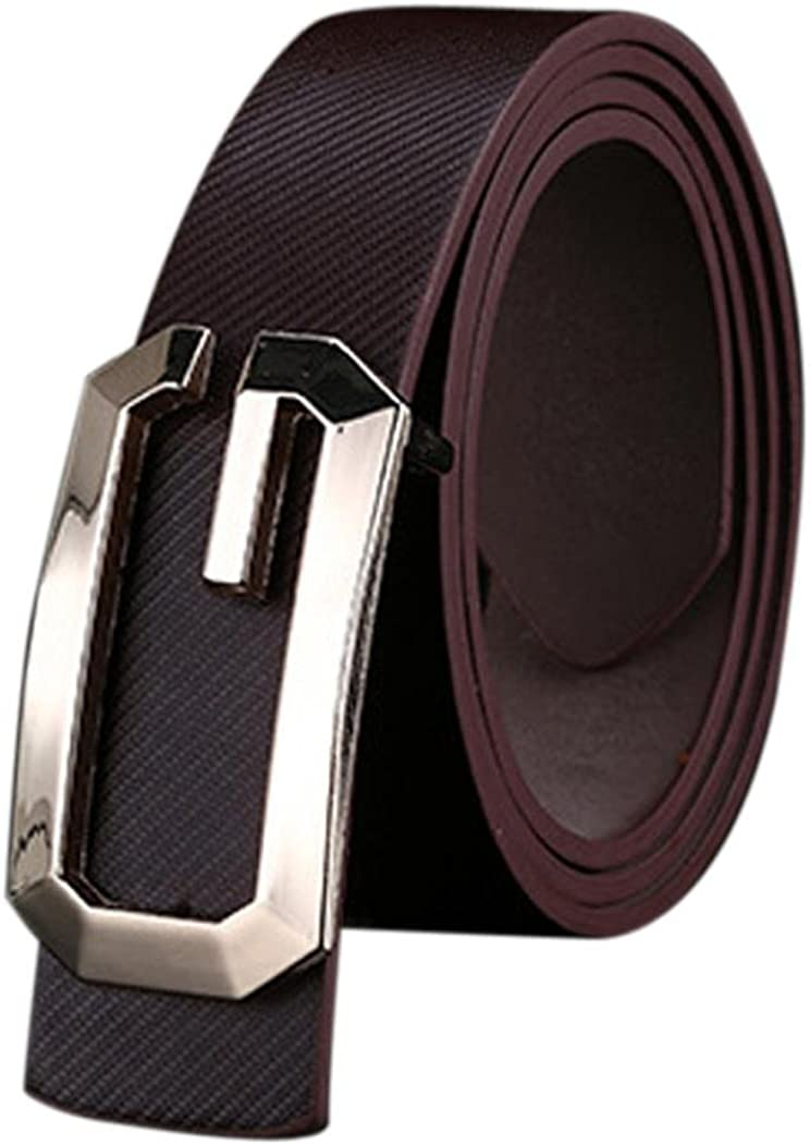 Coffee Mens Womens Belt SOUFUN Fashion Cool Casual PU Leather Thin Belt Skinny Slender Waistband Unisex