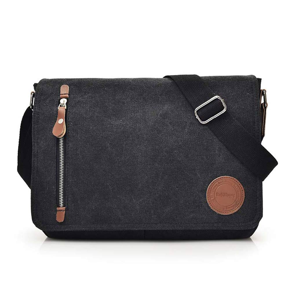 SHEVENS Casual Canvas Messenger Bag,Shoulder Bags Satchel Vintage 13 inch Laptop Bag Unisex for Working Traveling Camping-Coffee