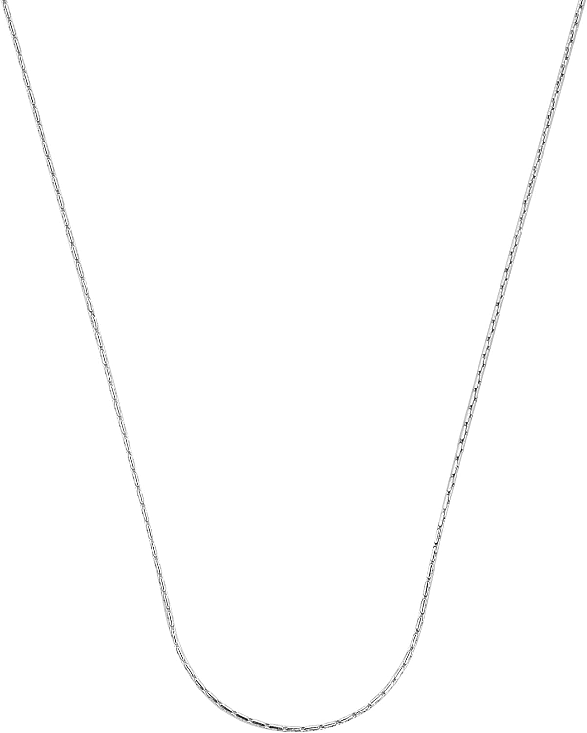AeraVida Delicate 0.5 mm .925 Sterling Silver Cardinal Chain Necklace-16 inches