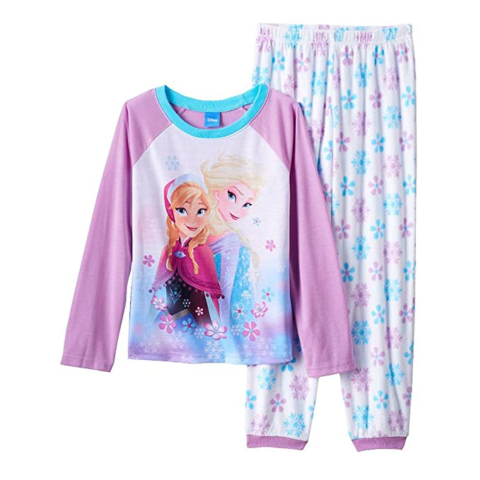 cdfceb964 Amazon.com  Disney Frozen Anna   Elsa Snowflake Pajama Set-8 Purple ...