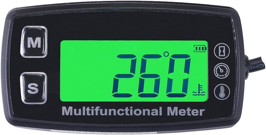 1PCS Green Digital Display Tach//Hour Meter Gauge Waterproof for Motocross ATV