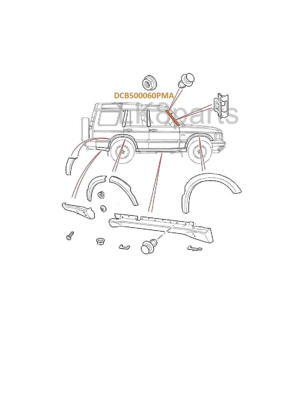 Proper Spec Land Rover Discovery 2 Front RH Pillar Finisher Post Trim DCB500060PMA Genuine