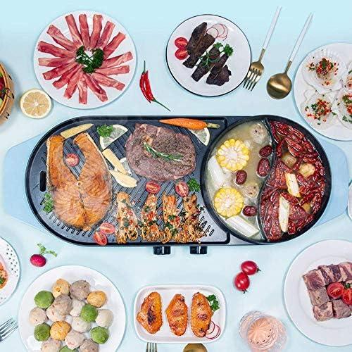 Ybzx Barbecue électrique sans fumée cuisinière à Barbecue Domestique, Casserole antiadhésive, avec Fonction de réglage de la température (Utilisation de 2 à 10 Personnes)