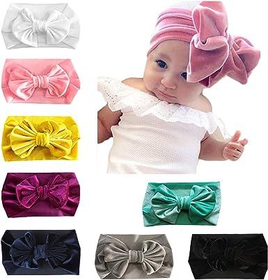 For Baby Infant Big Velvet Bow Hair Band Kid Elastic Headband Headwrap DIY Party