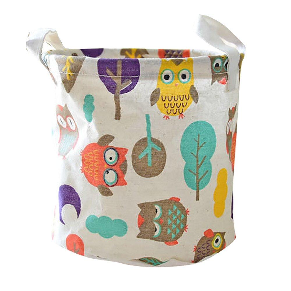 Midress Cotton Waterproof PE Coating Desktop Storage Basket, Sundries Storage Box - Toy Storage/Toy Box/Toy Organizer (C)