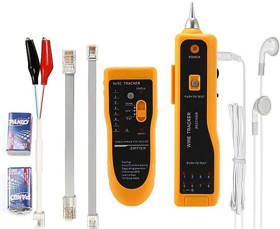 Wire Tracker GM60 Handheld Rapid LAN Network Cable Tester Buscador de l/ínea Wire Tracker Tool Medidores el/éctricos Detector de cable