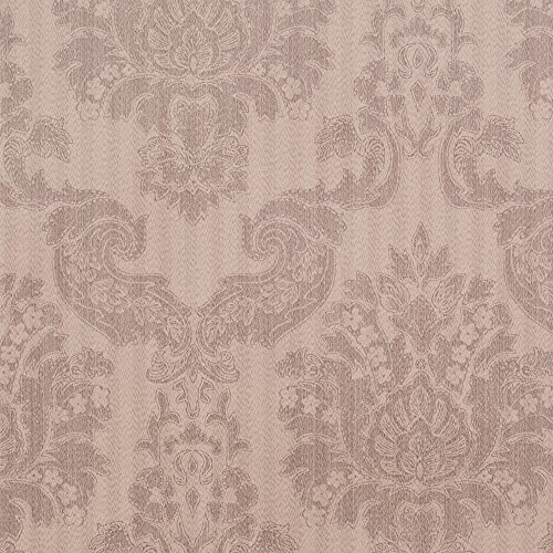 Louis Clay Brown/Gray Damask Vinyl Wallpaper For Walls - Double Roll - By Romosa Wallcoverings
