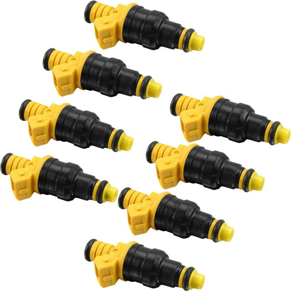 Fuel Injector 8 PCS Fuel Injectors Nozzles for Ford F150 F250 F350 E150 E250 E350 E450 Expedition Mustang Excursion Victoria Crown Bronco Econoline Lincoln 4.6L 5.0L 5.4L 5.8L