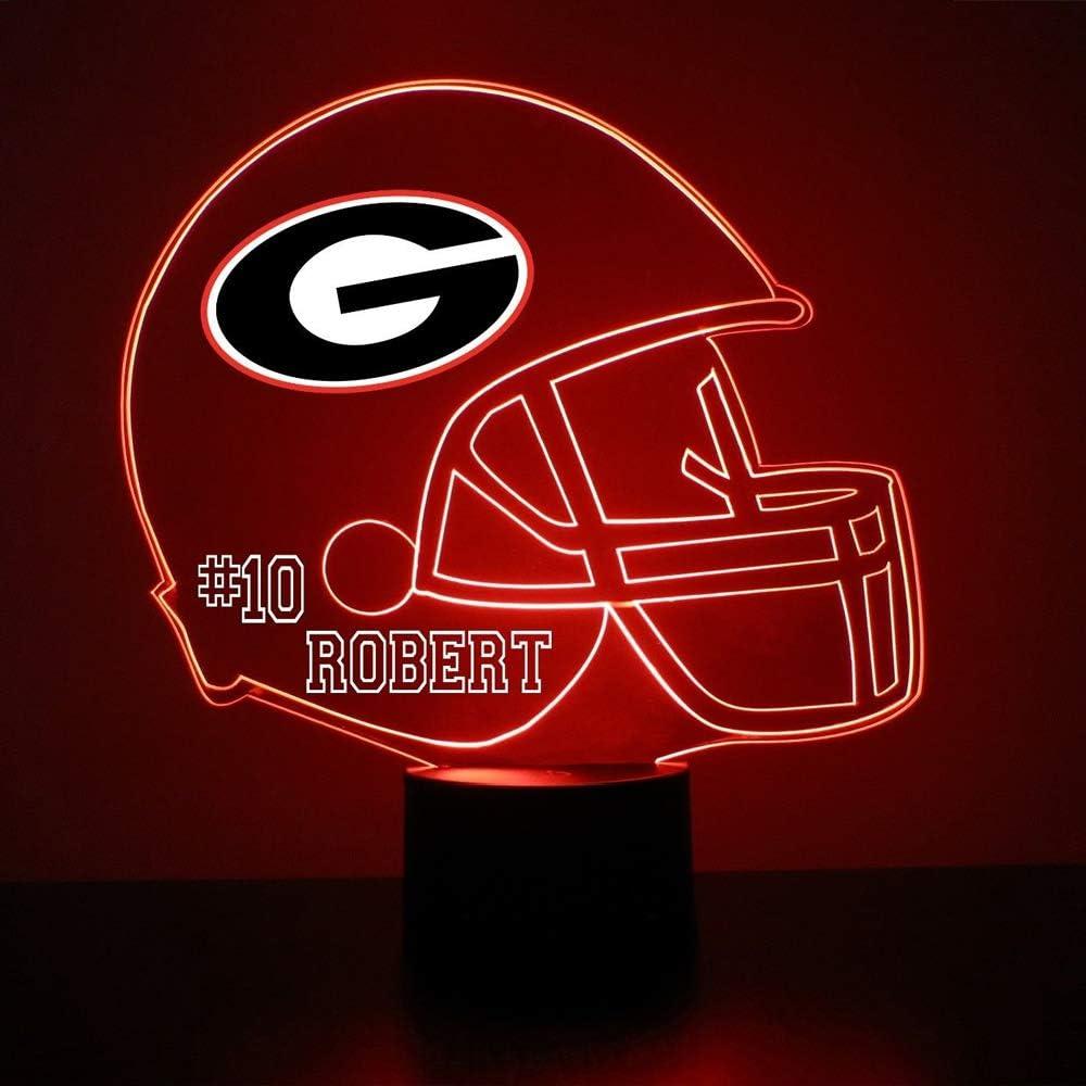 NCAA Georgia Bulldogs Adult NCAA Alumni Lamp Black