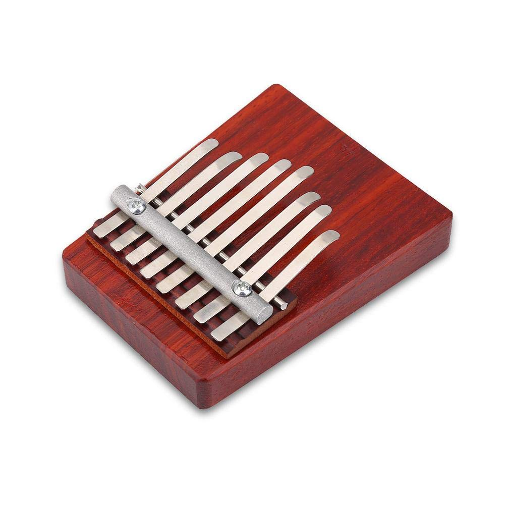 Bnineteenteam Kalimba Thumb Piano 8 Teclas Finger de Madera Piano Finger Mbira Instrumento Africano para ni/ños Adultos