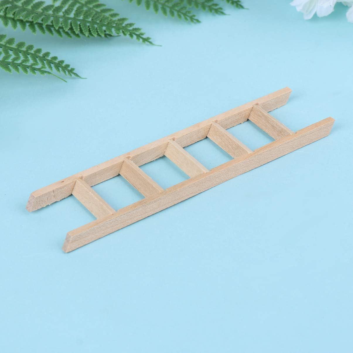 EXCEART Casa de Muñecas Escalera de Madera Mini Escalera 1:12 Escalera Miniatura Juguete DIY Jardín de Hadas Escalera Recta Accesorio para Niños (como Se Muestra): Amazon.es: Juguetes y juegos