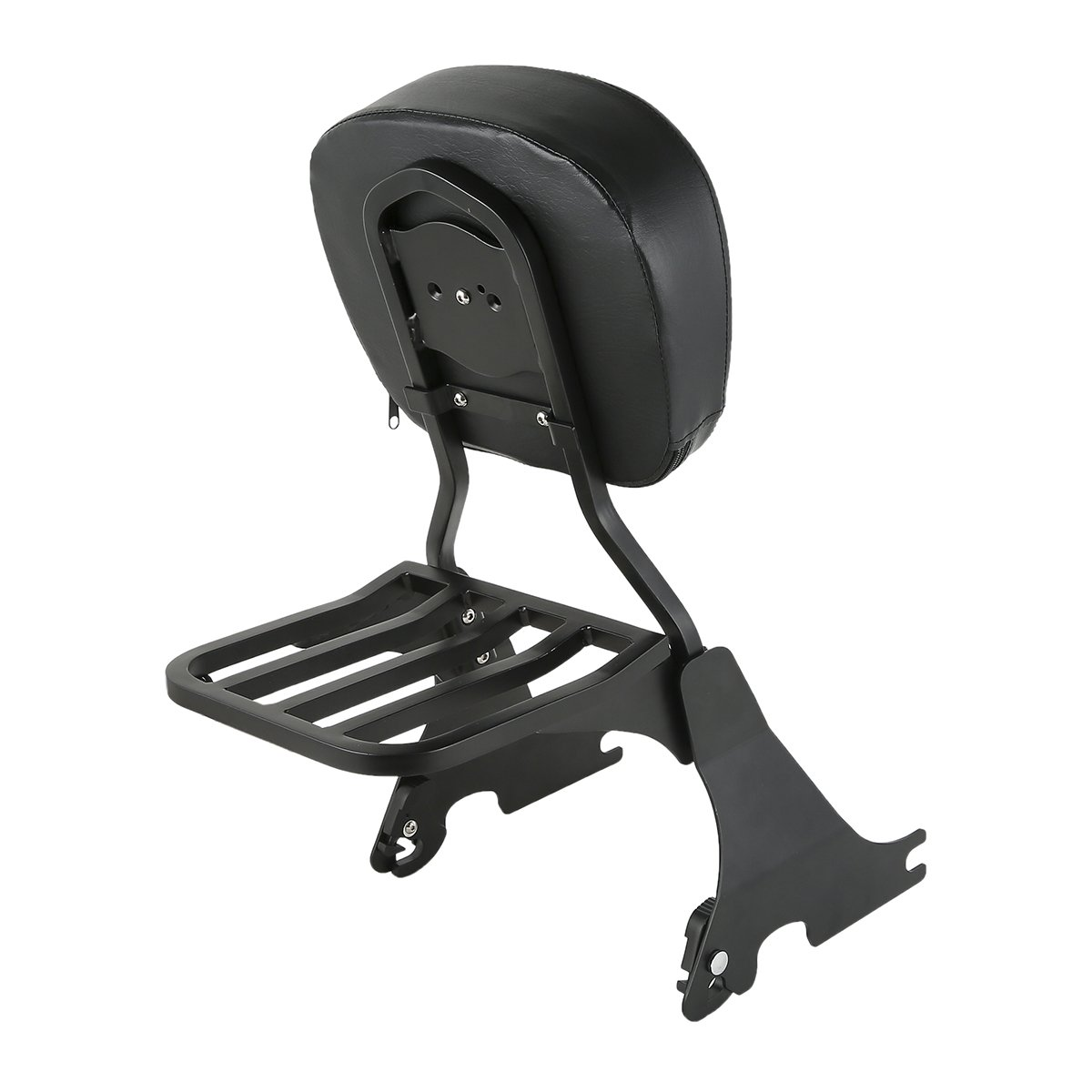 XFMT Sissy Bar Backrest w//Luggage Rack Compatible with Harley Sportster XL Iron 883 72 48 2004-2018