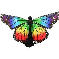 OverDose Disfraz para Mujer/niños Mariposa alas Chal Hada