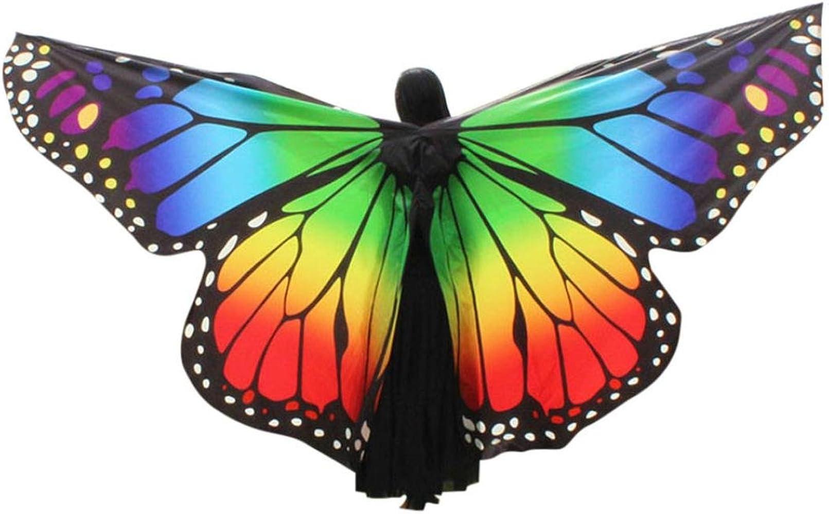 OverDose Disfraz para Mujer/niños Mariposa alas Chal Hada NINFA ...